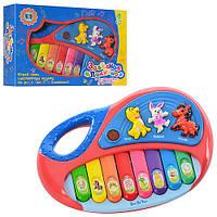 Пианино детское игрушечное2216 A 13, 18-12-3,5см, музыка, свет, на бат-ке.