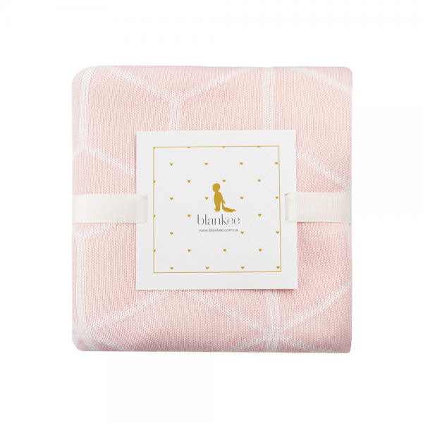 Хлопковый плед Blankee Cube Pink