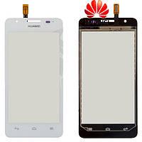 Touchscreen (сенсорный экран) для Huawei Ascend G510 (U8951D), оригинал (белый)