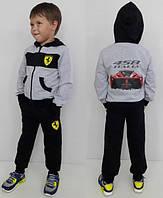 Модный детский спортивный костюм с начесом FERRARI 458 ITALIA, 104-160 р-р