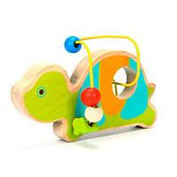Деревянная игрушка Лабиринт из бус Черепаха