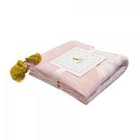 Хлопковый плед с капюшоном Blankee Bears Pink