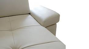 Кожаный диван FX-15 с оттоманкой, не раскладной диван, мягкий диван, мебель из кожи, фото 3