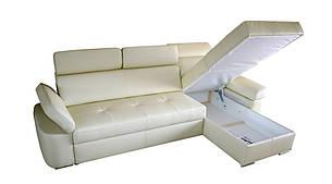 Кожаный диван FX-15 с оттоманкой, не раскладной диван, мягкий диван, мебель из кожи, фото 2