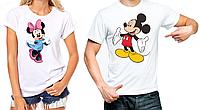 """Парные футболки """"Панды""""Микки и Минни"""""""