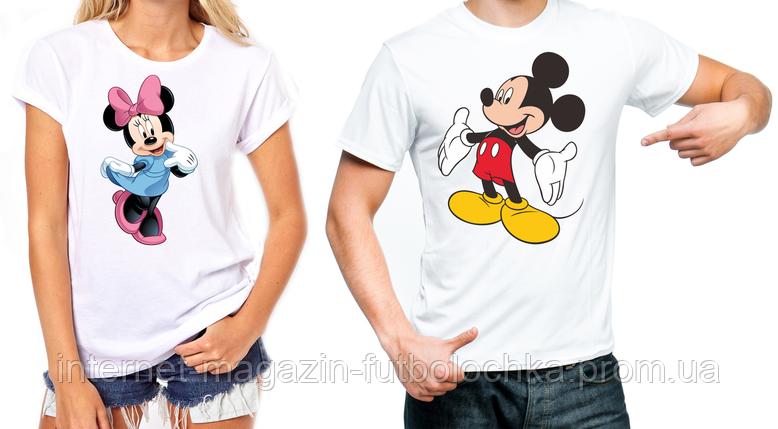 """Парные футболки """"Панды""""Микки и Минни"""", фото 2"""