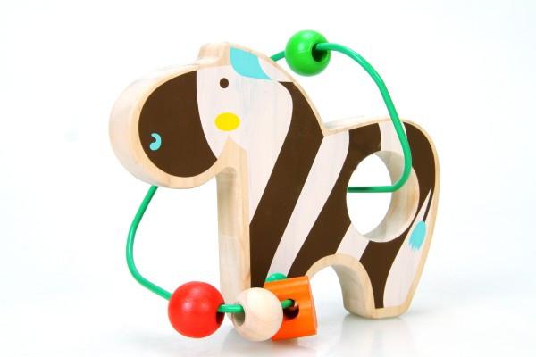 Дерев'яна іграшка Лабіринт з бусами Зебра МДІ LL127
