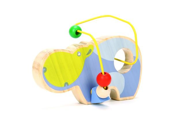 Деревянная игрушка Лабиринт из бус Бегемот МДИ LL129