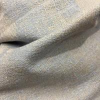 Натуральная льняная ткань голубого цвета ш. 150, пл. 215