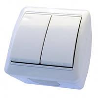 Выключатель RIGHT HAUSEN BERTA 2-й внеш. белый IP54 HN-013021