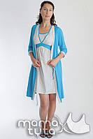 Комплект для беременных и кормящих (халат+ночнушка) MamaTyta 161.1 бирюза