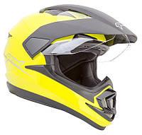 Шлем GEON 714 Дуал-спорт Trek Yellow, фото 1