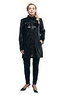 Женская куртка большого размера черная