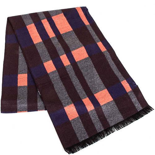 Теплый мужской шерстяной двухсторонний шарф 176 на 30 см ETERNO (ЭТЕРНО) ES2107-9 разноцветный