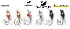 Мормышки вольфрамовые Lucky John «ЖУК» с петелькой и кристаллами SWAROWSKI 819030