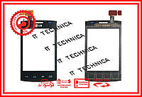 Тачскрін LG E410 Optimus L1x II Чорний ОРИГІНАЛ