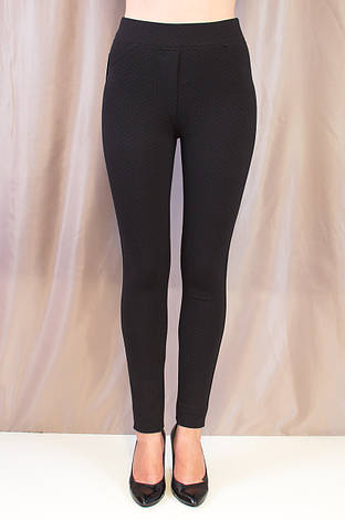 Модные женские черные лосины с завышенной талией, фото 2
