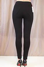 Модные женские черные лосины с завышенной талией, фото 3