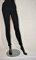 Джинсы женские классические, с высокой талией, сильно облегающие, черного цвета, эластичные, размеры 25-30.