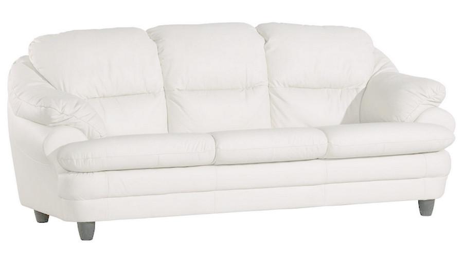 Розкладний шкіряний диван Sara, розкладний диван, м'який диван, меблі з шкіри, диван