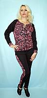 Красивый модный женский костюм кофта с лосинами, размеры норма и батал
