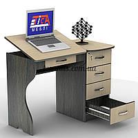 Компьютерный стол  с выдвижными ящиками, СУ-6, венге магия+ дуб молочный