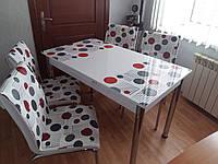 """Комплект стол и стулья для кухни """"Цветные точки"""" (Лотос-М)"""