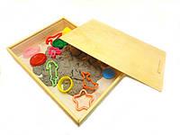 Песочница деревянная с крышкой для кинетического песка, фото 1