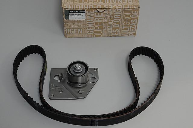 Комплект натягувач + ремінь ГРМ на Renault Trafic II 2001->2006 1.9 dCi — Renault (Оригінал) - 7701477048