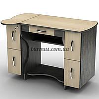 Маленький стол  с выдвижными ящиками, СУ-4, венге магия+ дуб молочный