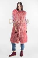Жилет  из меха ламы - 05092 длина 102 см