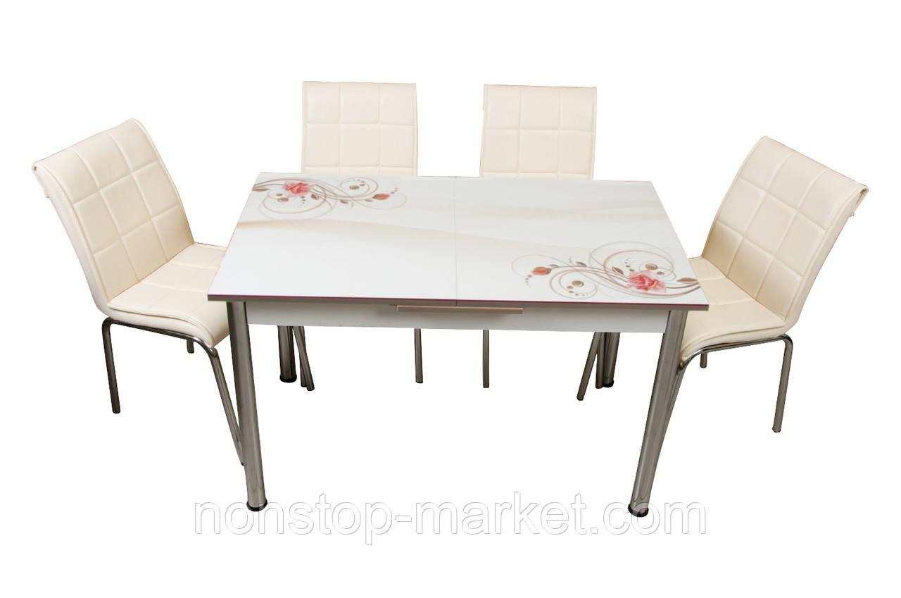 комплект стол и стулья для кухни роза лотос м цена 7 549 грн
