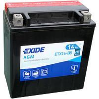 Аккумулятор для мотоцикла / квадроцикла Exide ETX16-BS = YTX16-BS