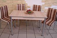"""Комплект стіл і стільці для кухні """"Смужка"""" (Лотос-М)"""