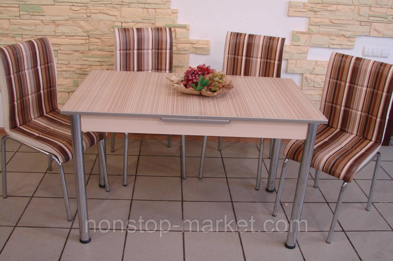 комплект стол и стулья для кухни полоска лотос м цена 7 549 грн