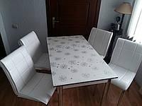 """Комплект стіл і стільці для кухні """"Прозорий квітка"""" (Лотос-М)"""