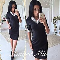 Женское красивое черное платье-футляр