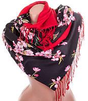 Шикарный женский двусторонний палантин из шелка и шерсти 179 на 46 см Eterno ES2707-2-4 разноцвет