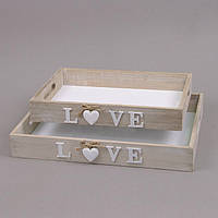 Поднос деревянный Love большой