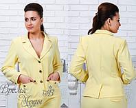 Деловой пиджак на пуговицах код 159 Батал 48, 50, 52, 54