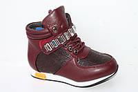 Демисезонная обувь детская. Ботиночки на девочек от фирмы Meekone H2215-4 (8пар, 27-32)