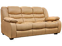 Трехместный кожаный диван Манхетен, бежевый (205 см)