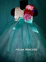 Детское платье для девочки с цветами