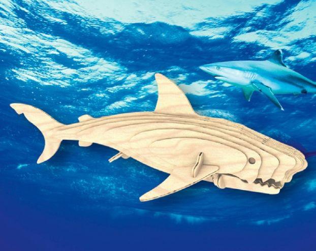 Збірна дерев'яна модель Біла акула