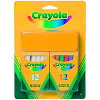 Crayola Набор Crayola Мелки белые и цветные с губкой (98268)