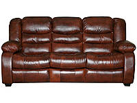 Трехместный кожаный диван Манхетен, коричневый (205 см) (4 цвета в наличии)