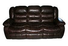 Кожаный диван Manhattan, нераскладной диван, мягкий диван, мебель из кожи, диван, фото 2