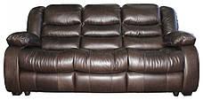 Кожаный диван Manhattan, нераскладной диван, мягкий диван, мебель из кожи, диван, фото 3