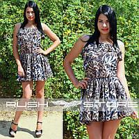 Леопардовое платье из шифона