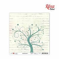 Бумага для скрапбукинга 30,5 * 30,5см, 180г / м2 ТМ ROSA Talent (481801-1)